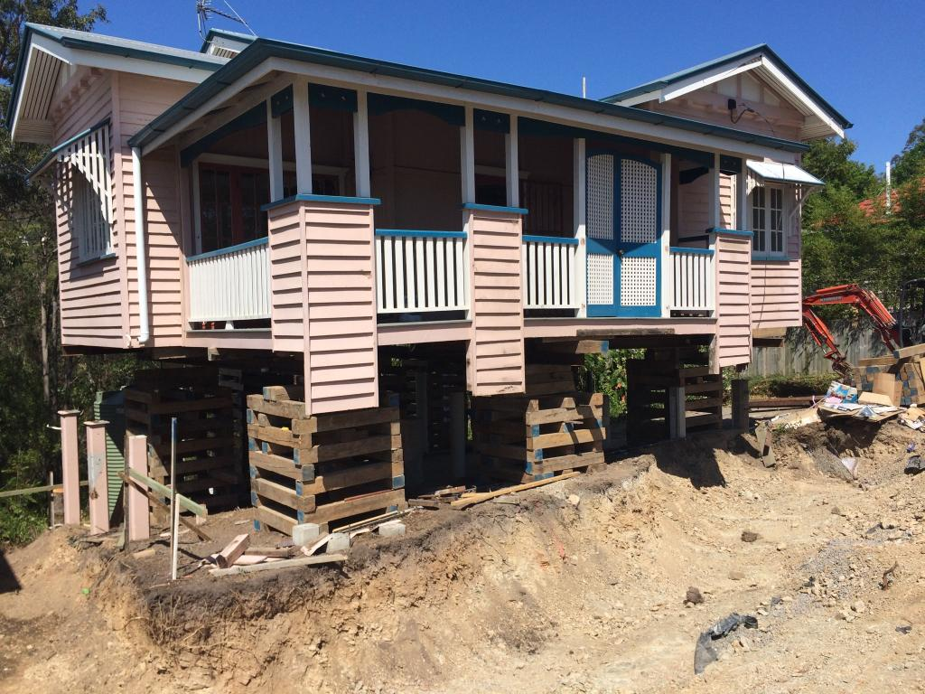 Before Shot Prior To Building Underneath Old Queensland House