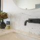 Marble bathroom and bronze tapware Brisbane.