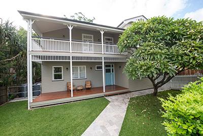 Queenslander house renovation in Red Hill Brisbane