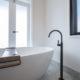 Standalone bath bronze tapware ensuite Brisbane